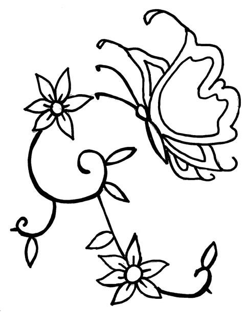 borboleta colorir Desenhos para Colorir de Meninas: Melhores Imagens, Imprimir e Pintar