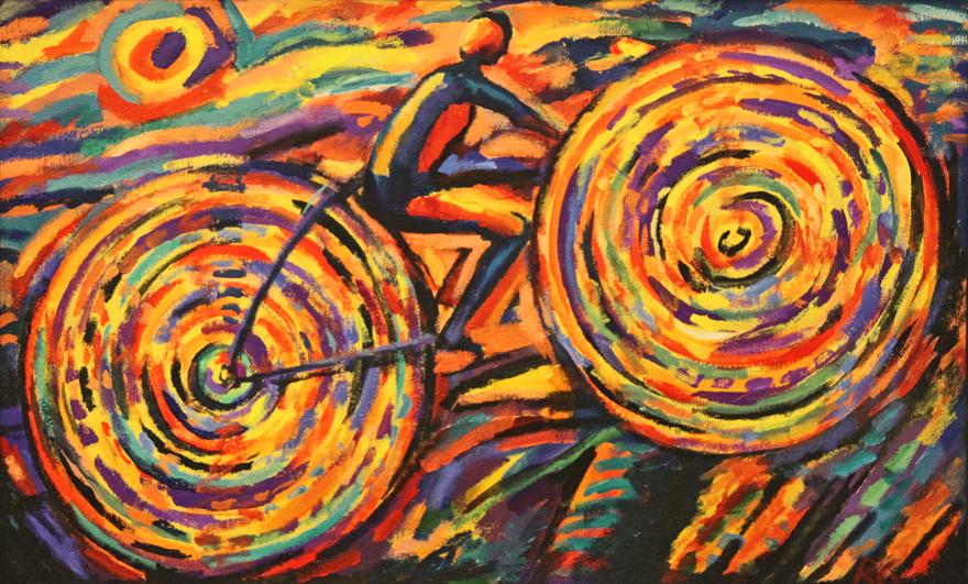 ciclista tropical rubens gerchman leilao Arte de Rubens Gerchman Exposta no Domingão do Faustão