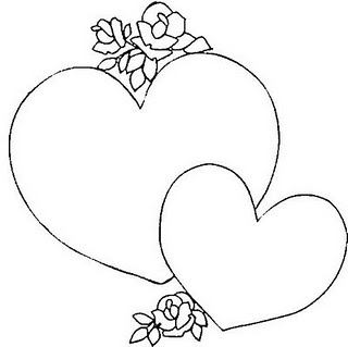 coracao com flores Desenhos de Coração para Colorir: Lindos Corações, Imprimir e Pintar