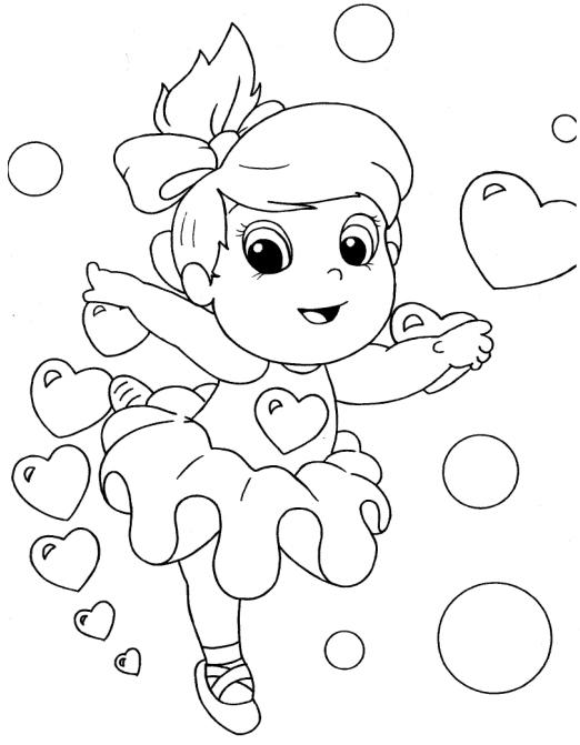 desenho de bailarina para colorir Desenhos para Colorir de Meninas: Melhores Imagens, Imprimir e Pintar