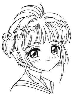 desenho sakura manga colorir Desenhos para Colorir de Mangás e Animes: Imagens, Imprimir e Pintar