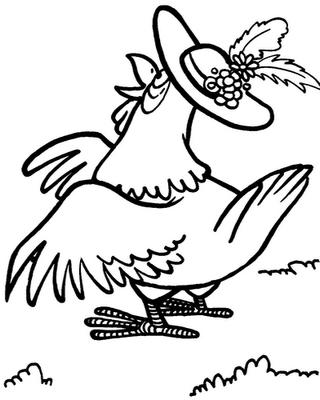 desenhos galinha colorir Desenhos para Colorir de Pássaros: Melhores Aves, Imagens para Pintar
