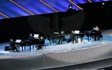 Hino Nacional Brasileiro Tocado a 12 mãos em 6 pianos Jogos Militares