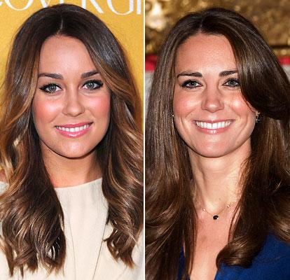 kate middleton e laren Celebridades Parecidas: Fotos de Famosos que parecem Gêmeos Idênticos
