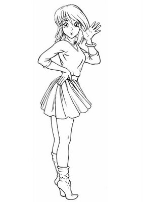 manga colorir Desenhos para Colorir de Mangás e Animes: Imagens, Imprimir e Pintar