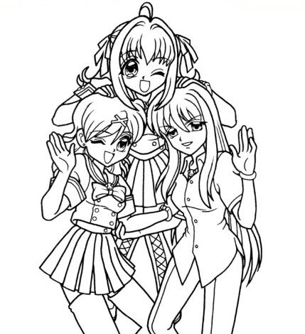 Para Pintar Anime Resultado de imagen para chicas de anime para ...
