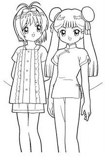 meininhas para colorir Desenhos para Colorir de Mangás e Animes: Imagens, Imprimir e Pintar