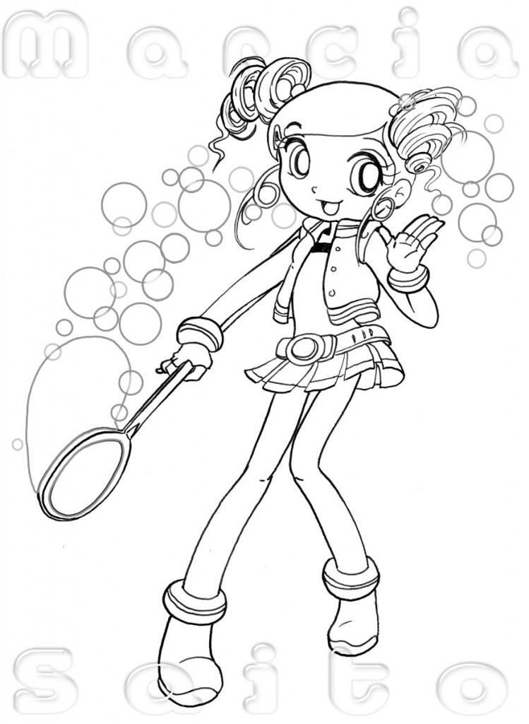 meninas colorir 749x1024 Desenhos para Colorir de Meninas: Melhores Imagens, Imprimir e Pintar