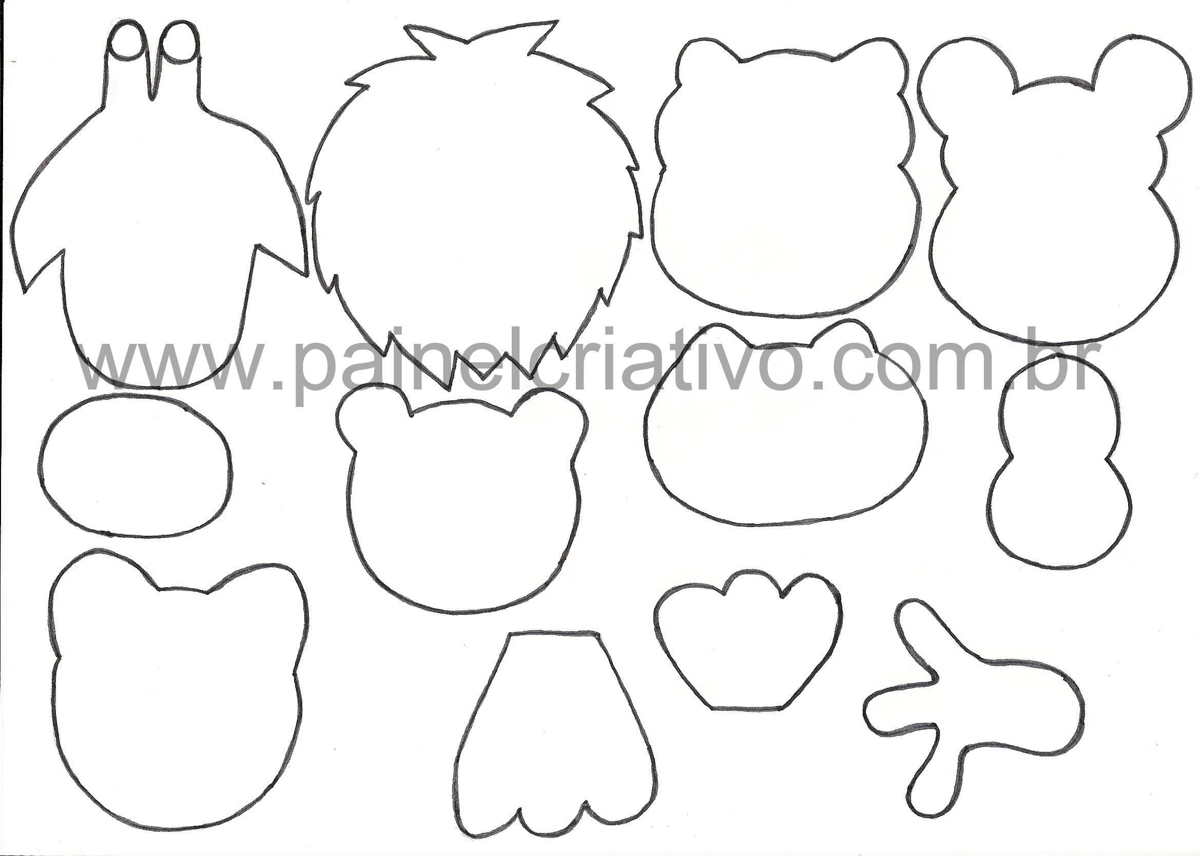 moldes bichinhos Lembrancinhas para o Dia das Crianças    Moldes, Modelos e Reciclagem