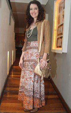 saia longa estampada Moda das Saias Longas Verão 2012: Modelos das Famosas, Cores e Dicas