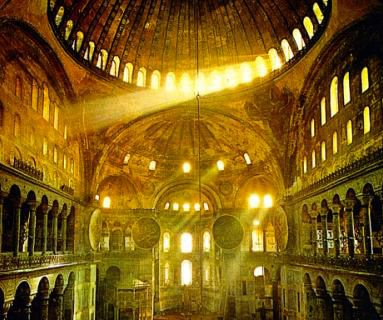 santa sofia basilica Tudo sobre Arte Bizantina: Mosaicos, Pinturas, Cultura e Arquitetura