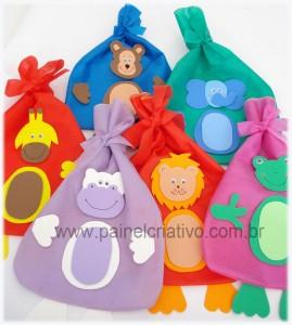 saquinhos Lembrancinhas para o Dia das Crianças    Moldes, Modelos e Reciclagem