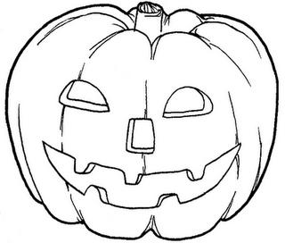 abobora de halloween colorir