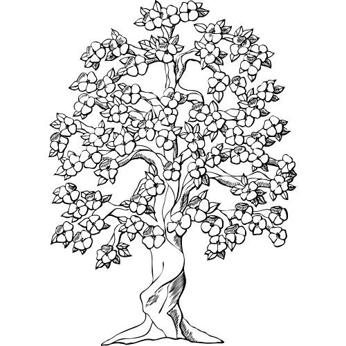 arvore flores colorir Desenhos para Colorir de Árvore: Imagens para Imprimir e Pintar Grátis