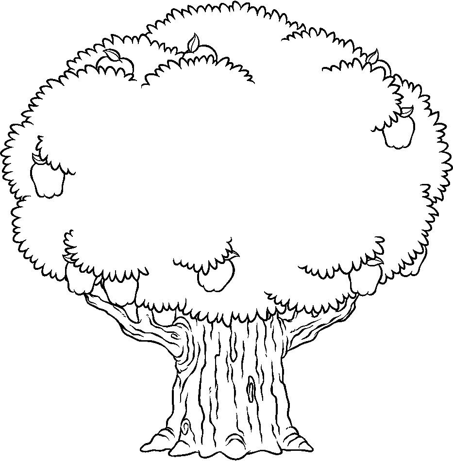 arvore frutifera colorir Desenhos para Colorir de Árvore: Imagens para Imprimir e Pintar Grátis