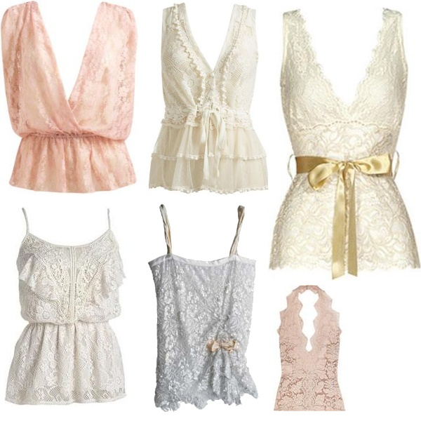 blusas de renda clara Blusas de Renda Moda 2012: Lindos Modelos, Dicas de Como Usar e Fotos