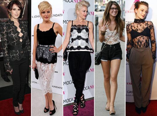 blusas de renda transparentes Blusas de Renda Moda 2012: Lindos Modelos, Dicas de Como Usar e Fotos