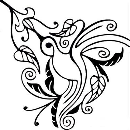 colorir Desenhos para Colorir de Beija Flor: Imagens para Imprimir e Pintar