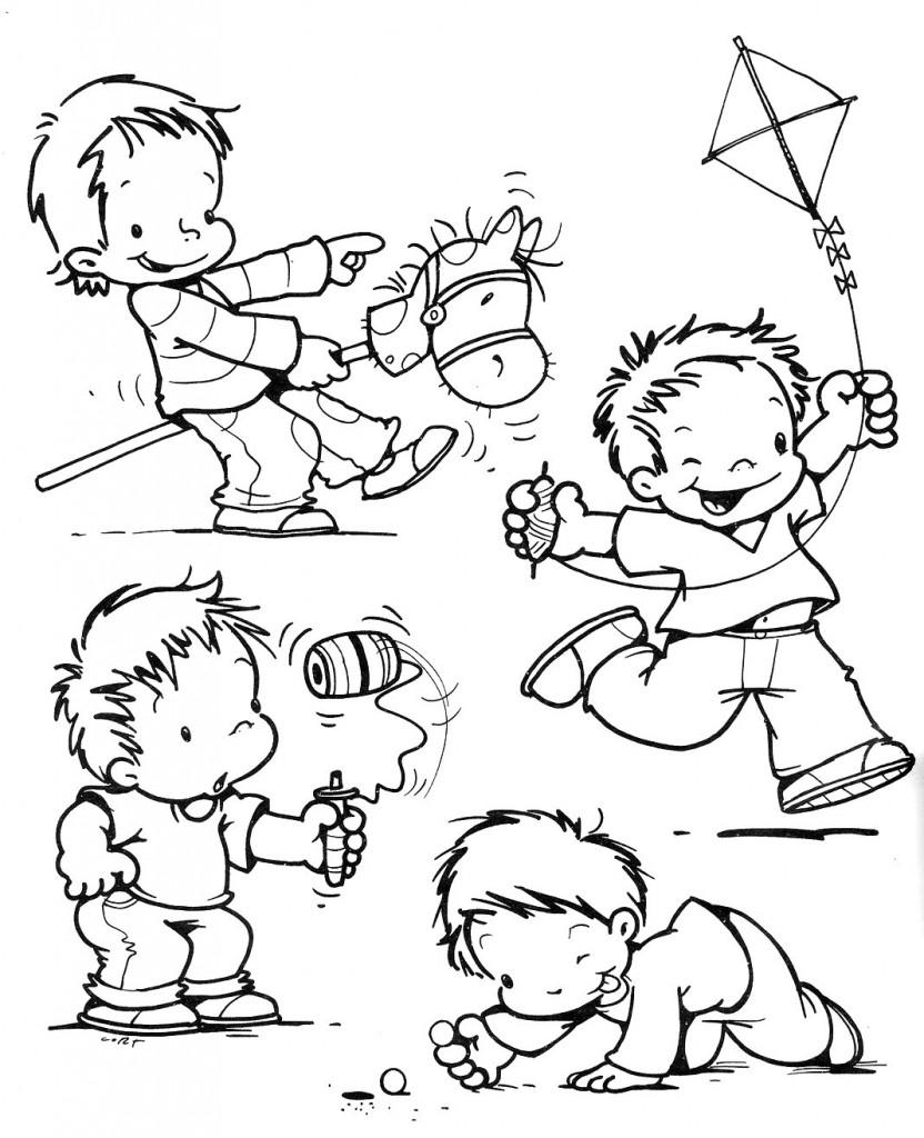criancas 832x1024 Desenhos para Colorir do Dia das Crianças: Imagens, Imprimir e Pintar