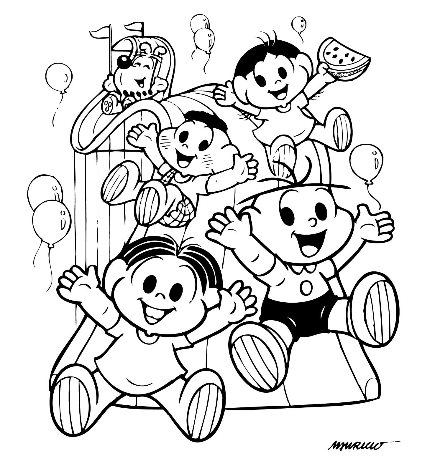 dia das criancas colorir Desenhos para Colorir do Dia das Crianças: Imagens, Imprimir e Pintar