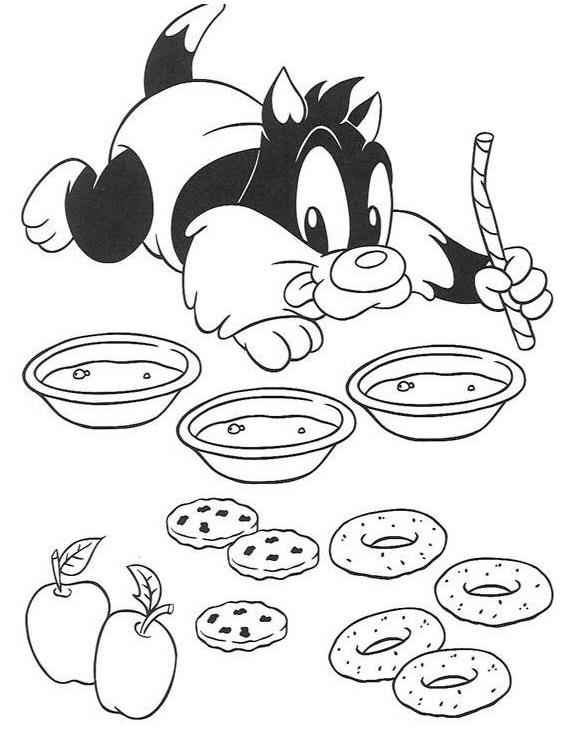 Desenhos Para Colorir Looney Tunes Baby Imagens Fofas Bebes Pintar