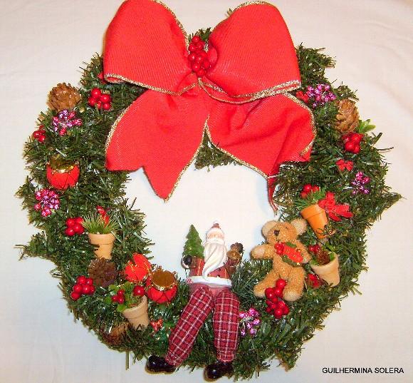 guirlanda laco vermelho 1 Como Fazer Guirlanda Para o Natal   Dicas Passo a Passo   Faça e Venda