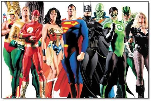 liga da justi%C3%A7a  Desenhos para Colorir da Liga da Justiça: Personagens para Pintar