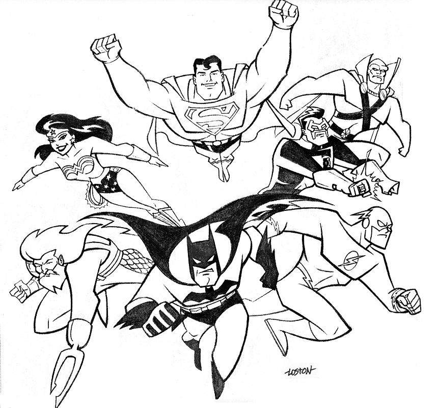 liga da justica colorir Desenhos para Colorir da Liga da Justiça: Personagens para Pintar