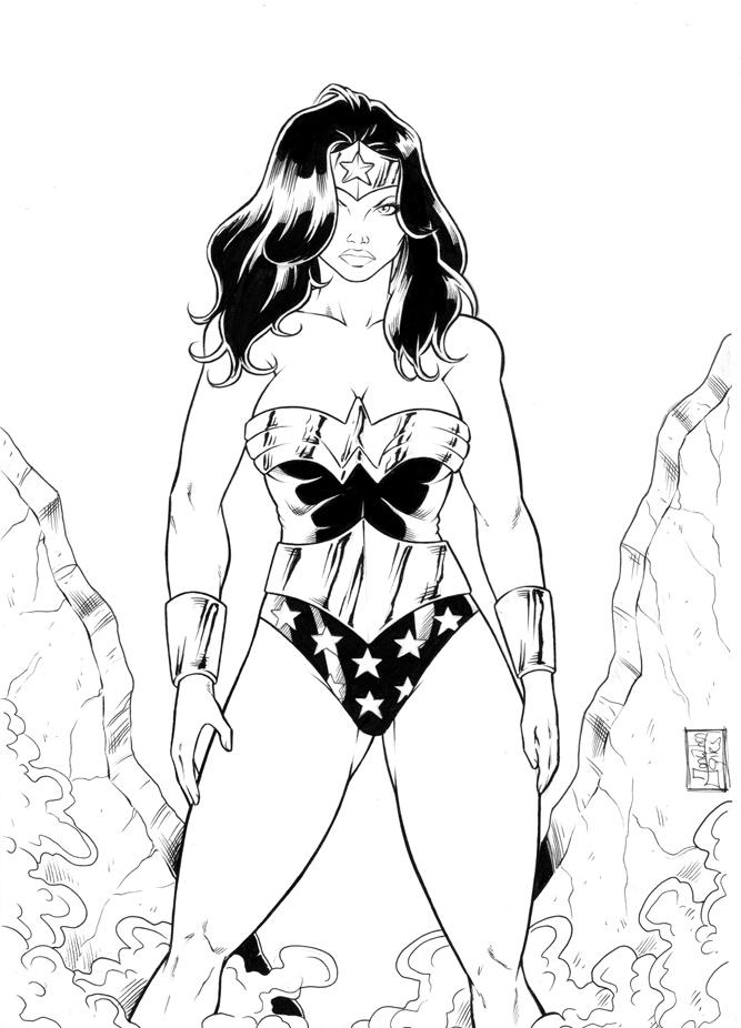 mulher maravilha colorir Desenhos para Colorir da Liga da Justiça: Personagens para Pintar