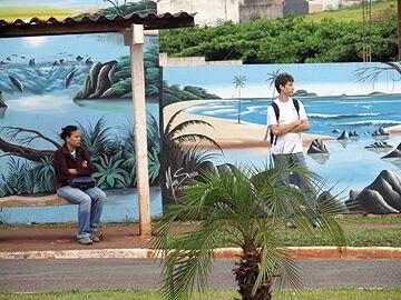 muro pintura de paisagem Tipos de Pinturas para Muros de Casas: Modelos de Paisagens e Grafites