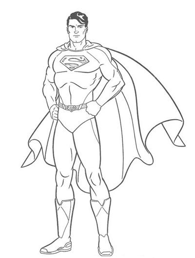 super homem colorir Desenhos para Colorir da Liga da Justiça: Personagens para Pintar