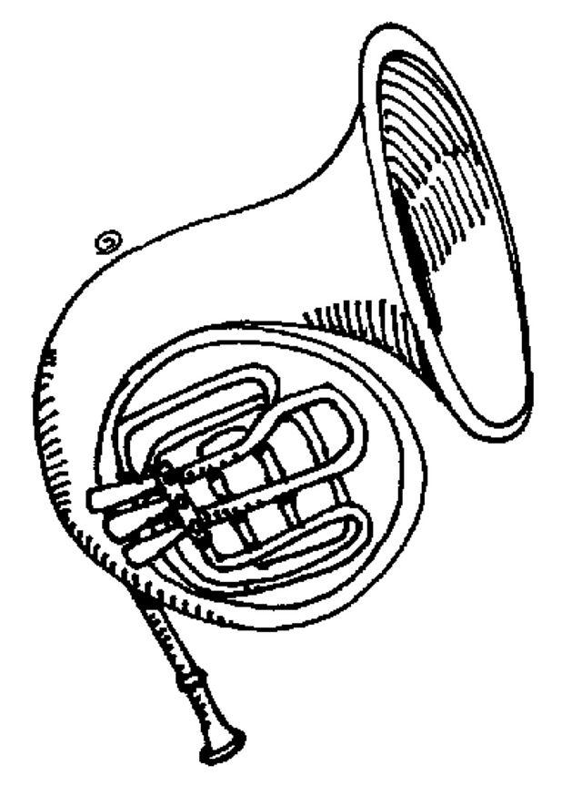 tuba para colorir Desenhos para Colorir de Instrumentos Musicais Piano, Violão, Sax etc