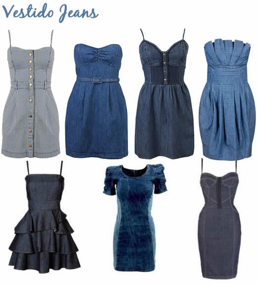 vestidos jeans Vestidos Jeans Moda Verão 2012: Lindos Modelos, Tendências e Dicas