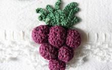 Como Fazer Bicos de Crochê de Frutas com Gráfico para Decorar sua Casa – Uva, Figo