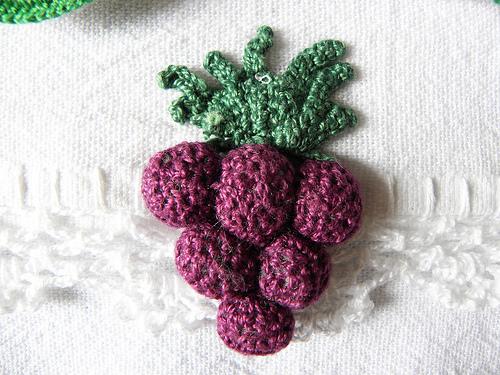 croche uva Como Fazer Bicos de Crochê de Frutas com Gráfico para ...