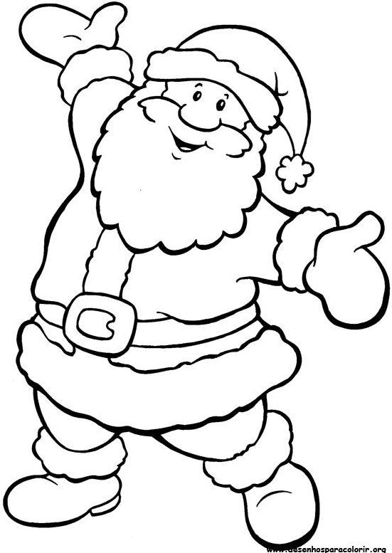 natal papai noel colorir Desenhos de Natal para Colorir: Árvores, Enfeites e Papai Noel Pintar