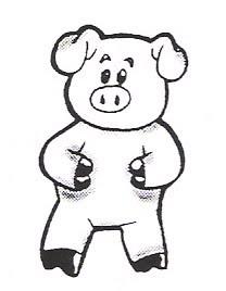 desenhos para colorir de porcos porquinhos fofos para pintar gratis