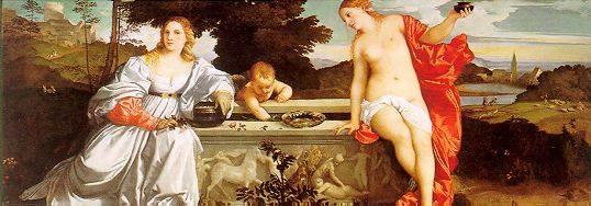 amor sacro profano Ticiano: Biografia, Pintor Italiano do Renascimento, Obras de Vecelli