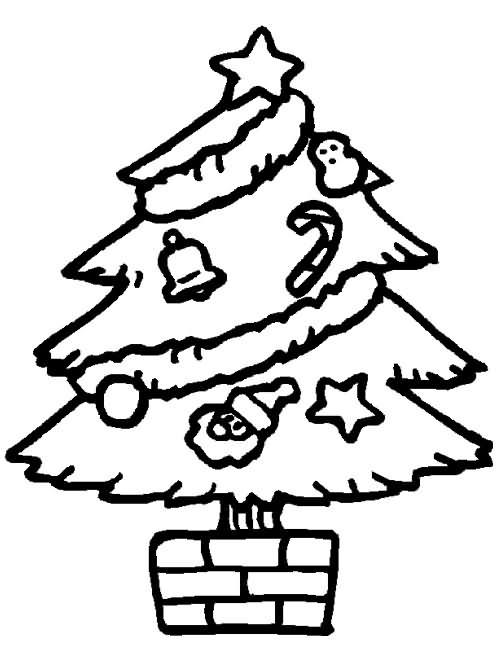 arvore de natal para colorir 3 Desenhos de Árvore de Natal para Colorir: Imagens para Pintar Grátis