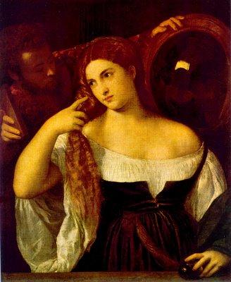 beldade ao espelho Ticiano: Biografia, Pintor Italiano do Renascimento, Obras de Vecelli