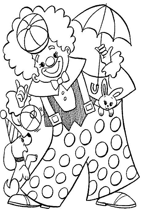 colorir desenho palhaco Desenhos de Palhaços para Colorir: Imagens para Imprimir e Pintar
