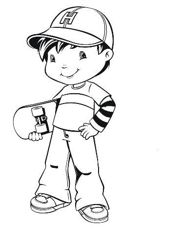 desenho menino skate Desenhos para Colorir de Skate: Imagens de Skatistas para Pintar