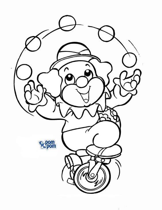 dia do circo colorir Desenhos de Palhaços para Colorir: Imagens para Imprimir e Pintar