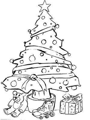 natal 6 Desenhos de Árvore de Natal para Colorir: Imagens para Pintar Grátis