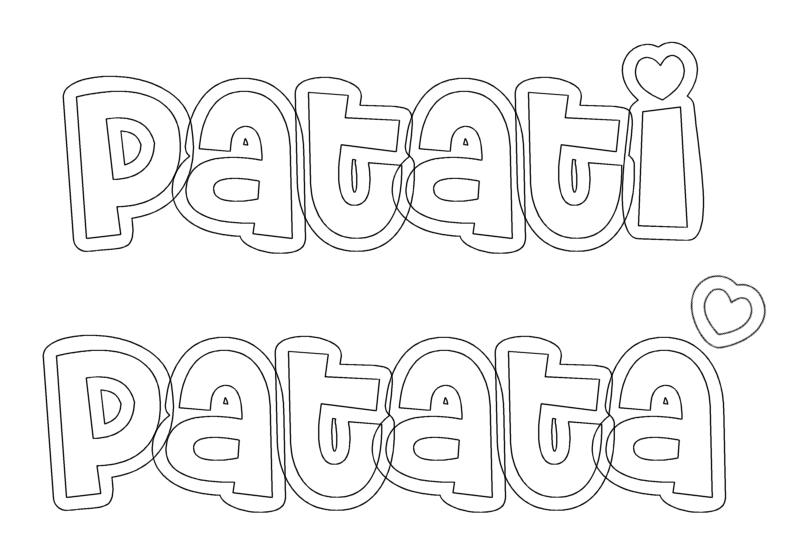 Nome Patati Patata Desenhos Para Colorir Do Patati Patata  Palha  Os