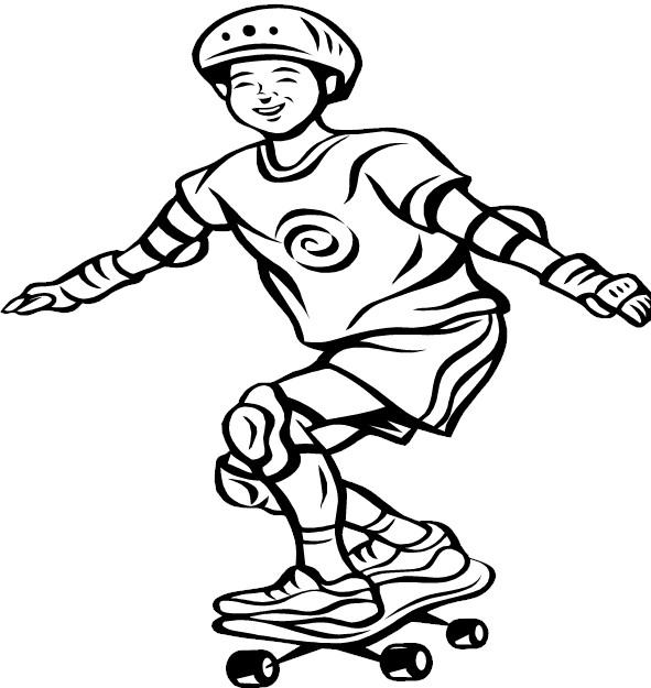 skate boy pintar Desenhos para Colorir de Skate: Imagens de Skatistas para Pintar