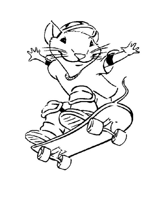 stuart little skate Desenhos para Colorir de Skate: Imagens de Skatistas para Pintar