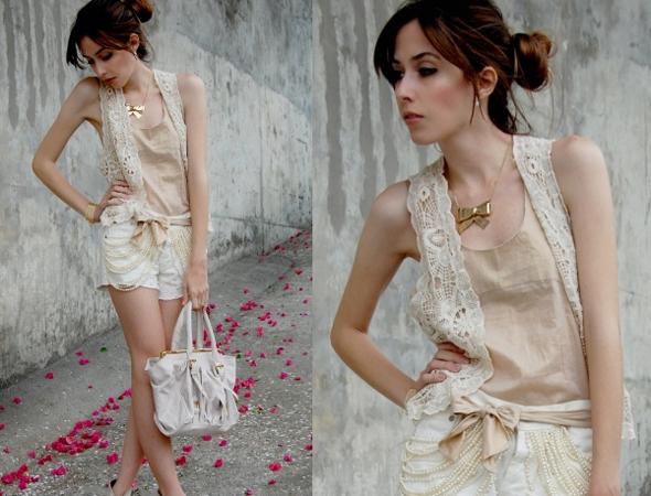 colete de renda Boleros e Coletes de Renda Moda 2012: Lindas Combinações, Looks, Fotos