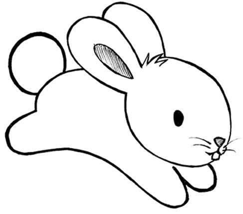 desenho coelho colorir Desenhos de Animais Fofos para Colorir: Imagens para Imprimir e Pintar
