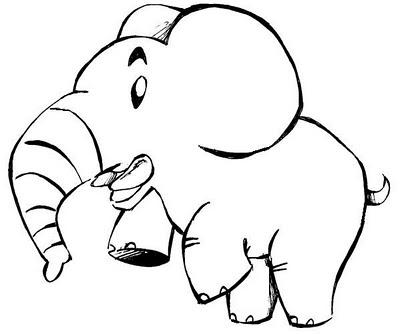 desenho elefante pintar Desenhos de Animais Fofos para Colorir: Imagens para Imprimir e Pintar
